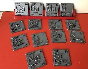 Periodic Table of Elements s-block 3D print model 3