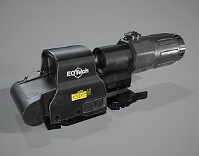 3D model Collimator holographic Weapon Sight with scope
