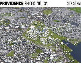 Providence Rhode Island USA 50x50km 3D model