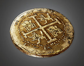 Ancient Treasure Coin 01 TRS - PBR Game Ready 3D model