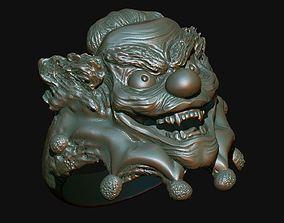 3D print model Creepy clown finger ring
