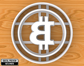 Bitcoin Sign Emblem Logo Cookie Cutter 3D printable model