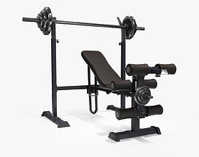 Lifting Bench Game Ready 3D asset