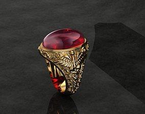 3D Caduceus ring