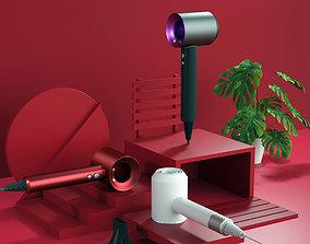 Hair dryer fan fan fan Fan Dyson 3D model