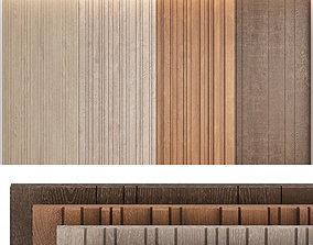 Wood panels set5 3D model