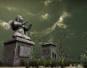 Medivel Cemetery - Full Pack 3D asset rigged
