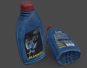 3D model Motor Oil 2T Bottle