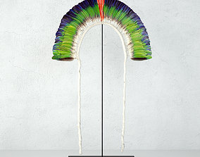 Juruna Tribe Feather Headdress 3D model
