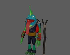 VR / AR ready Frog Model 3D Free