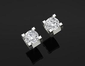 TJ 62 3D Platinum Diamond Earring drops