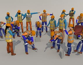 3D model game-ready worker