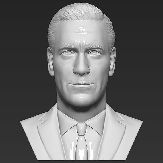 Mad Men Don Draper bust for 3D printing