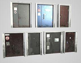 3D model Metal door collection