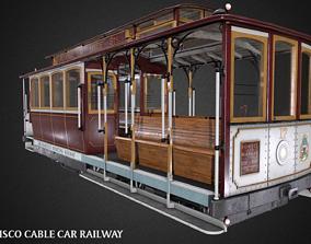 San Francisco Classic Cable Car Railway Videogame 3D model