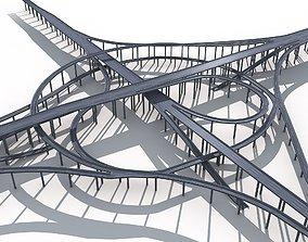 3D Highway Road Viaduct Flyover-08