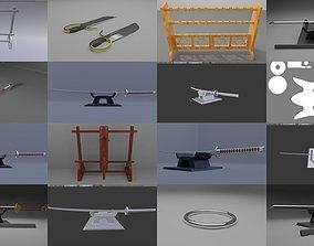 chinese martial art equipment set 1 3D