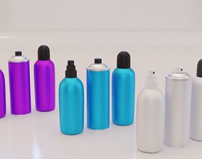 3D asset Deodorant Bottle