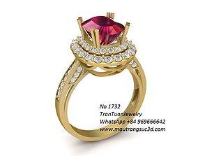 3D print model 1732 Diamond ring