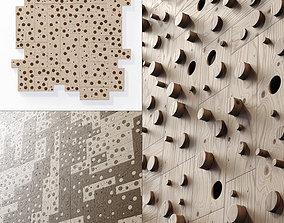Panel wood board hole n2 3D