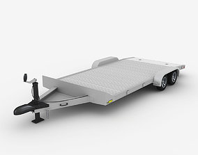 Aluminum Car Trailer 3D model