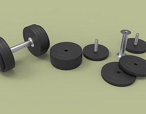 gym Dumbbell 3-12 kg 3D model