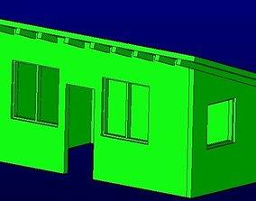 3D printable model H0 train station 1-87