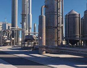 3D model industry Oil Refinery