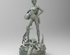 3D printable model Star Wars Mandalorian Pin Up Girl
