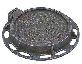 3D asset Sewer hatch
