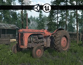 3D model Old Farm Tractor - PBR and Game Ready