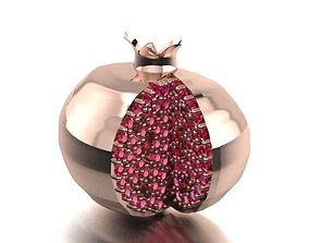pomegranate necklace or earrings 3D printable model