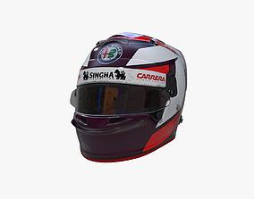 3D model Raikkonen helmet 2019