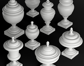 Classic vase set 2 3D model