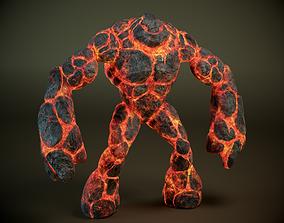 3D model Magma golem PBR