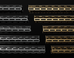 KAC URX4 MLOK AR15 Handguard 3D model