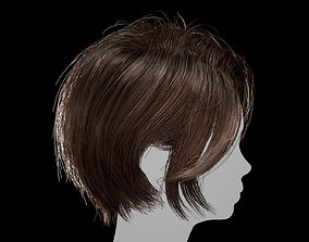 3D model Hair for AAA games Unreal Engine 4 project 1