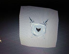 3D asset Medieval Shield square