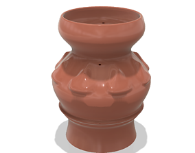 country style vase cup vessel v308 for 3d-print or cnc