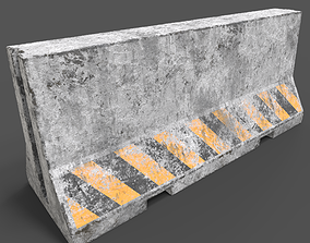 3D model Old Concrete Barrier