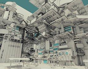 Cyberpunk City 3D model
