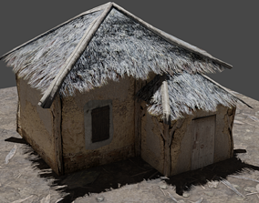 Little Thatched Village House - Low Poly - Game 3D model 1