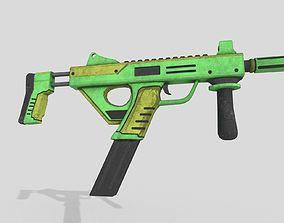 sub machine gun 3D asset