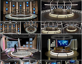 bbc Virtual TV Studio Chat Sets Collection 10 3D