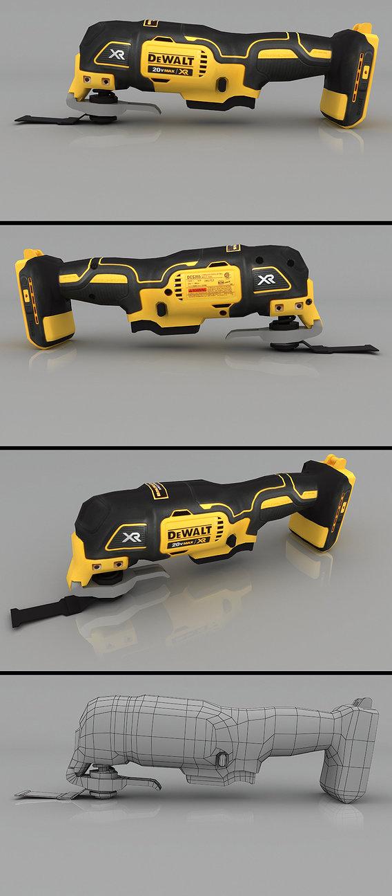 DEWALT 20v Max XR Oscillating Multi Tool Render