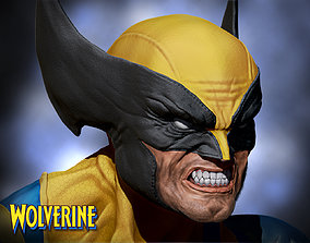 Wolverine bust 3d print