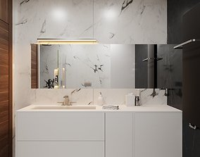 3D model Modern Hi-End Bathroom scene for Cinema 4D and 1