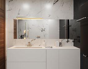 Modern Hi-End Bathroom scene for Cinema 4D and 3D model 1
