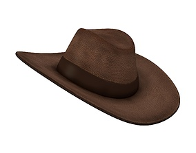 3D model fashion-accessory Hat leather