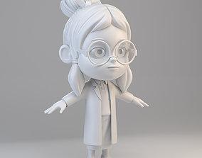 3D model Cartoon Scientist Girl